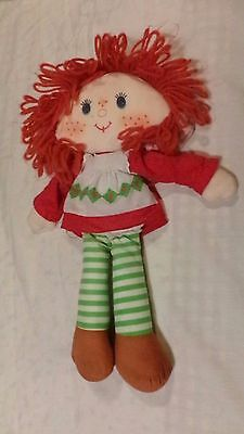 "Vintage 1980""s STRAWBERRY SHORTCAKE Herself Rag Doll 15"" Tall RARE"
