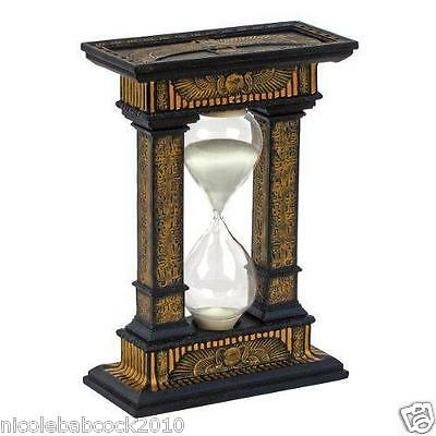 Egyptian Hourglass  SANDS OF TIME SCULPTURAL HOME OFFICE DECOR