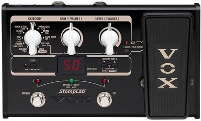 VOX STOMPLAB2G Black Modeling Guitar Multi-Effects Pedal Stomp Box F/S