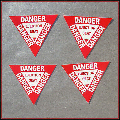 New Fashion Danger Ejection Seat Sticker Funny Decal Vinyl Car Aircraft Warning Sign Gamer Home Décor