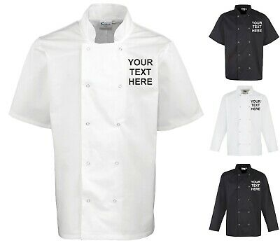 Personalised Embroidered Printed Short Sleeve Long Sleeve Unisex Chef's Jacket