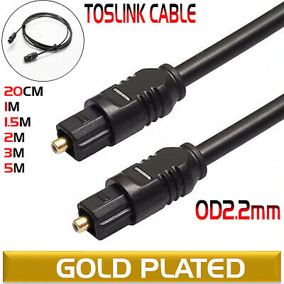 Digital OD2.2mm Fibre Optical Audio Toslink SPDIF Cable Lead For Surround Sound