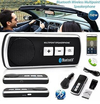 Wireless Bluetooth Handsfree Car Kit Speaker Phone Visor Clip for iPhone Samsung