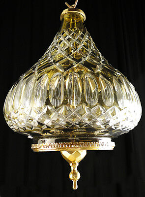 Antique French carved glass chandelier carved transparent and grey glass