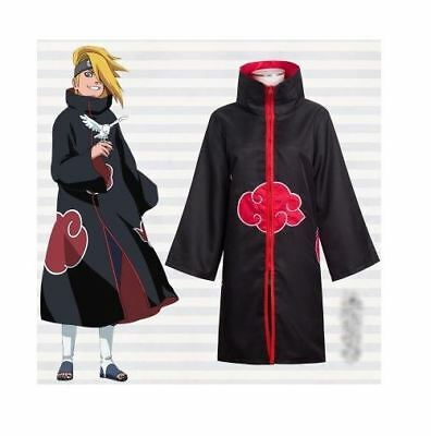 Naruto Akatsuki Itachi Premium Cosplay Costume Jacket Cloak for Adult/Kids