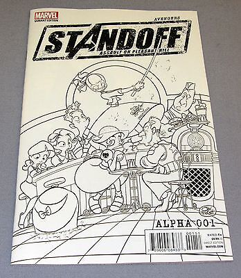 AVENGERS STANDOFF ASSAULT ON PLEASANT HILL #1 Alpha (Party Sketch Variant) NM
