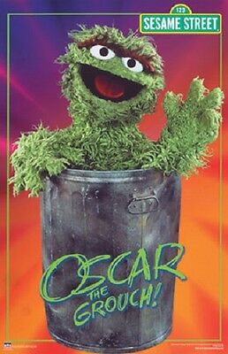 2003 Sesame Street Oscar The Grouch Poster 22X34 New Fast Free Shipping