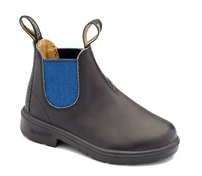 Blundstone Urban 580 Kids Black and Blue Leather Boots