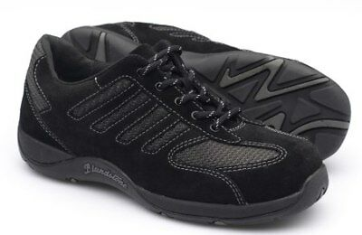 Blundstone 742 Women's Black Suede Leather Lace Up Steel Cap Jogger