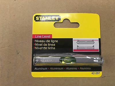 "Level Stanley Line Level Aluminum Model 42-287 Durable length 3-1/8"" length"