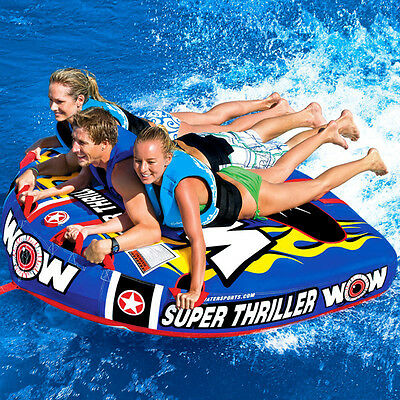WOW Super Thriller Mattress Style Towable Ski Tube Inflatable Biscuit Boat Ride