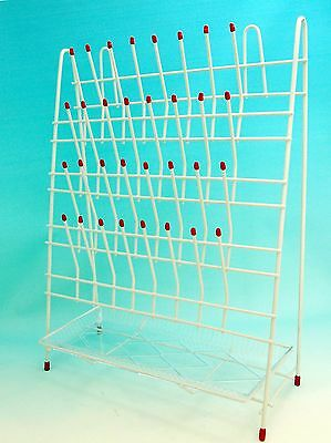 Laboratory Drying / Draining Rack 55 Pegs with Drain Pan New
