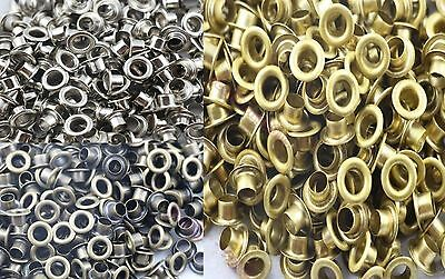 Wholesale 100-500pc 5mm Hole Metal Eyelets With Grommet Card Decoration M2512 QL