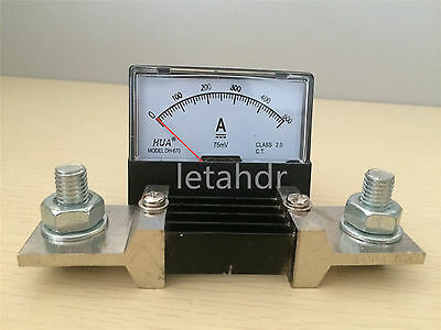 Analog Amp Panel Meter Current Ammeter From DC0-5A To DC 0-500A With/(out) Shunt