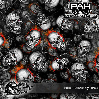 1m of Hellbound (PAHB) 100cm PA Hydrographics water transfer film
