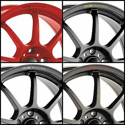 x8 OZ RACING Rims Alloy Wheel Curved Decals Stickers Audi Bmw Mercedes Vw Honda
