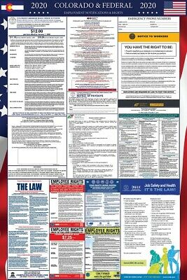 2019 Colorado and Federal Laminated Labor Law Poster PREORDER