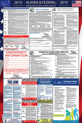 2019 Alaska State and Federal Labor Law Laminated Poster