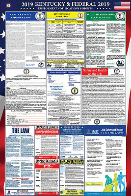 2019 Kentucky State and Federal Labor Law Laminated Poster