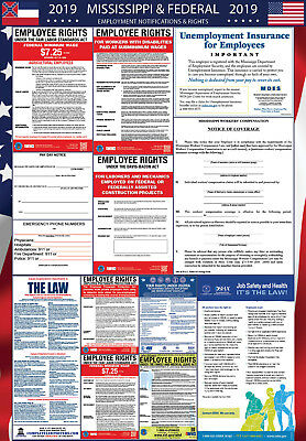 2019 Mississippi State and Federal Labor Law Laminated Poster PREORDER