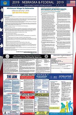 2019 Nebraska State and Federal Labor Law Laminated Poster PREORDER