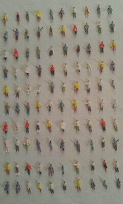 100 N Scale Model Train standing and sitting figures