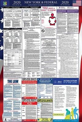 2019 New York State and Federal Labor Law Laminated Poster PREORDER