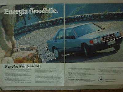 - Advertising Pubblicita' Mercedes-Benz Serie 190 - 1986 Vedi Altre Disponibili