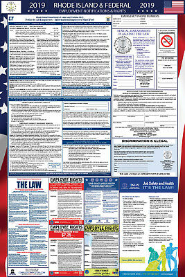 2019 Rhode Island State and Federal Labor Law Laminated Poster PREORDER