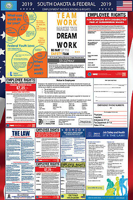 2019 South Dakota State and Federal Labor Law Laminated Poster PREORDER