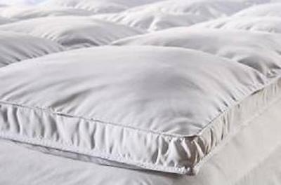 "3120 Fully Reversible (Double Life)-1"" Down Alternative Mattress Topper / Pad- w"