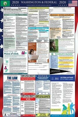 2019 Washington State and Federal Labor Law Laminated Poster PREORDER