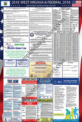 2019 West Virginia State and Federal Labor Law Laminated Poster PREORDER