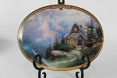 Rainbow's End Cottage Thomas Kinkade Collector's Plate