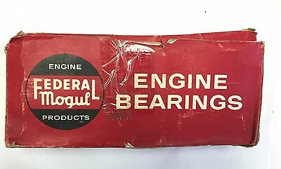 Federal Mogul Engine Main Bearing Set 1952-1956 Plymouth Dodge Desoto V8, .002