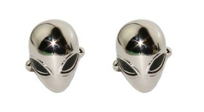 Men's Alien Cufflinks and Gift Box ~ Novelty Formal Accessory