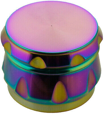 "2.2""  55 mm  4 Piece Grinder Herb Spice Crusher Rainbow Color 161* USA SELLER*"