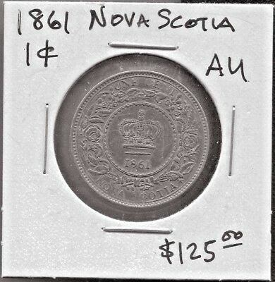 Nova Scotia - Fantastic Historical Qv 1 Cent, 1861, Small Rosebud, Km# 8.2