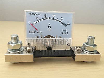 85C1 Amp Panel Meter Current Ammeter From DC 0-5A To DC 0-200A With/(Out) Shunt