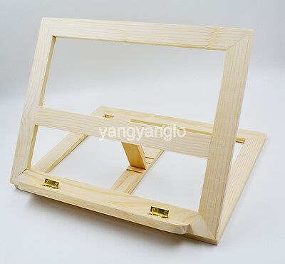Folding Natural Wood Music Notes Book Stand Holder Portable Table Counte 4 Angle