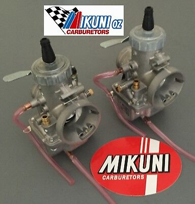 Yamaha XS650 34mm VM34 Mikuni Round Slide Carburetors with Aussie Jetting