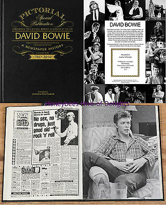 PERSONALISED DAVID BOWIE Pictorial Newspaper History BOOK Gifts For Fathers Day