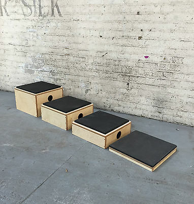 Stackable Plyometric boxes  with soft foam top. (stackable jump boxes)