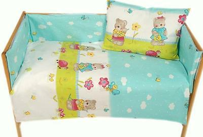 Baby Toddler 2 piece bedding set PILLOWCASE & DUVET COVER - To Fit Cot / Cot Bed