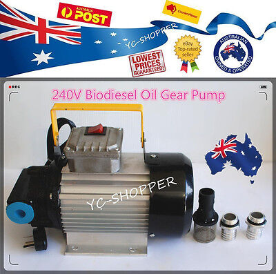 Heavy Duty 240V Diesel Biodiesel Oil Fuel Gear Transfer Pump