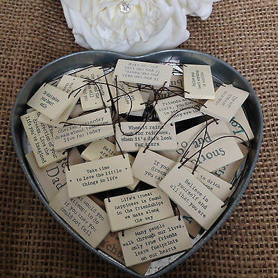 East of India tiny miniature wooden signs messages gift tags gorgeous keepsakes