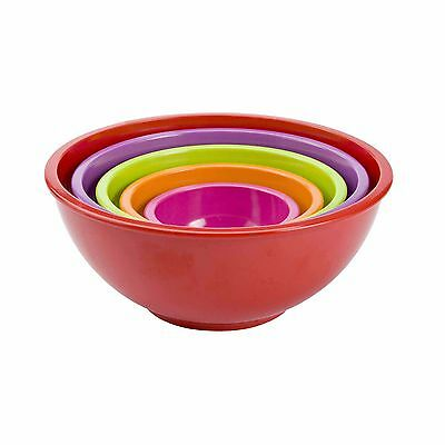 Zak Designs Melamine Nested Bowl Set Of 5