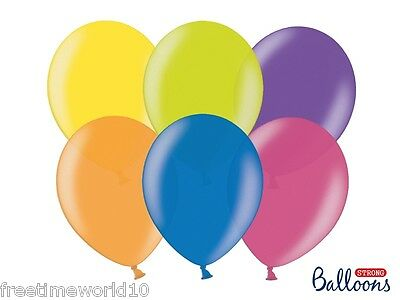 Palloncini In Latex Strong Metallic Mix 27 Cm 100 Pz Sb12M - Party Feste