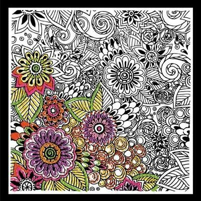 Design Works Bold Floral - Zenbroidery Fabric Pack Kit
