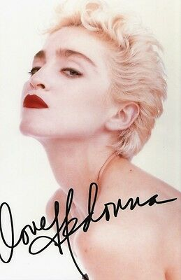 MADONNA SIGNED 12x8 INCH / A4 SIZE LAB PRINTED PHOTO